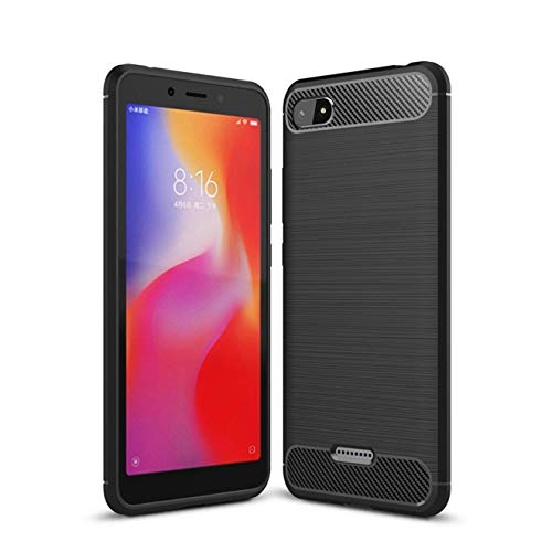 Explocart Premium 360* Protection Designed Soft Rubberised Rugged Armor TPU Back Case Cover for Xiaomi Redmi 6A -Black 145
