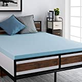 ruuf. 3 Inch Mattress Topper Queen, Ventilated Gel Infused Memory Foam with CertiPUR-US Certified, Medium Firm Luxury Premium Foam, Cloud-Like Soft for Double Bed