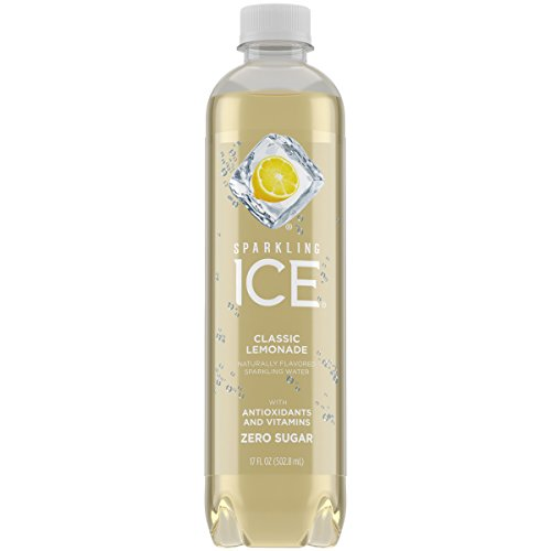 Sparkling Ice, Classic Lemonade Sparkling Water, with Antioxidants and Vitamins, Zero Sugar, 17 fl oz Bottles (Pack of 12) 4