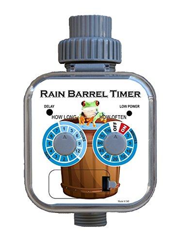 Mr. Soaker Hose Rain Barrel Timer, Zero Pressure, Solar Panel, Rain Sensor