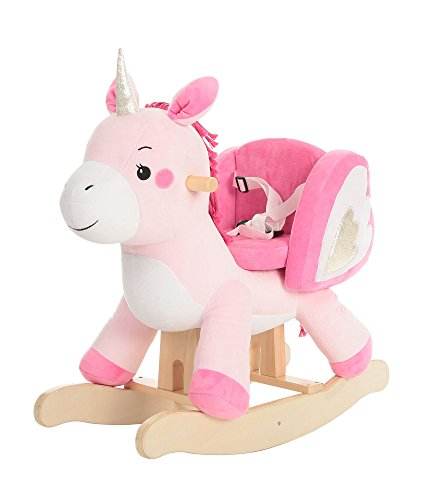 Labebe - Baby Rocking Horse, Pink Ride Unicorn