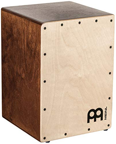 Meinl Cajon Box Drum with Internal Snares-MADE IN EUROPE-Baltic Birch Wood Compact Size, 2-YEAR WARRANTY, JC50LBNT