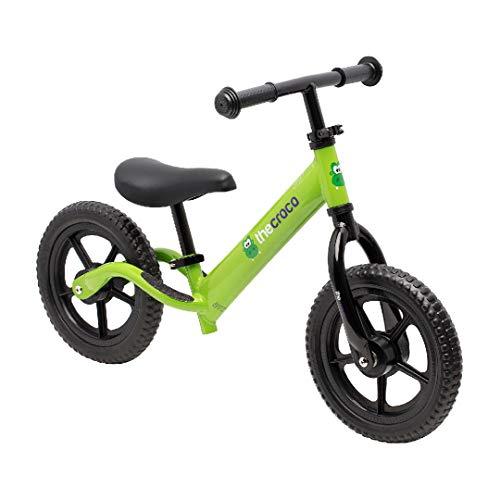 TheCroco Aluminum Lightweight Balance Bike for Kids - Green