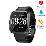 beitony Fitness Tracker, Smart Watch with Blood Pressure/Oxygen Monitor, Waterproof Fitness Watch, Big Color Screen Activity Watch with Continuous Heart Rate Sleep Monitor for Kids Women Men