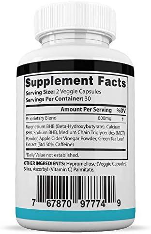 Pure Keto Xp Pills Advanced BHB Ketogenic Supplement Exogenous Ketones Ketosis for Men Women 60 Capsules 2 Bottles 5