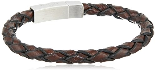416GdZFQeVL Braided-leather wrap bracelet featuring rhodium-plated sterling silver rectangular clasp Imported