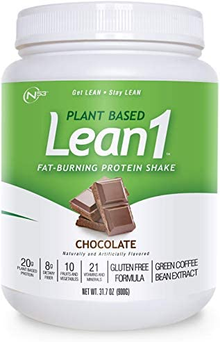 LEAN1 Nutrition 53 Meal Replacement Powder for Weight Loss, Fat Burner, Appetite Control, Plant Based Chocolate (31.7 Ounce) 1