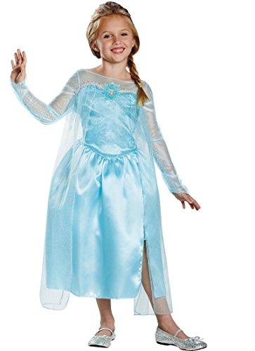 Disney's Frozen Elsa Snow Queen Gown Classic Girls Costume, Medium/7-8