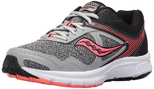 Saucony Women's Cohesion 10 Running Shoe, Grey Coral, 9.5 Medium US
