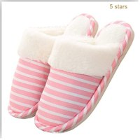 Slippers Non slip Non Slip Winter Striped