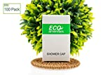 ECO Amenities Disposable Shower Caps for Home Hotel Vacation Rental Hair Salon, Individually Boxed Package, Full Size Adult, Case of 100