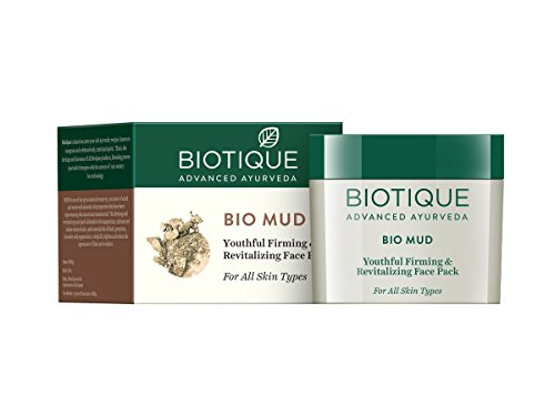 416LPqWonZL - Biotique Bio Mud Youthful Firming and Revitalizing Face Pack for All Skin Types, 75g