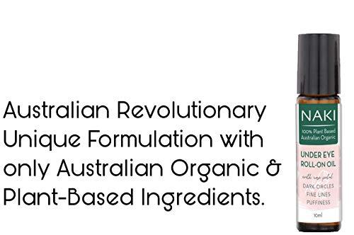 416M8vMkHFL - NaKi Organics Australia Australian Organic Under Eye Roll-on Oil for Dark Circles Wrinkles Fine Lines Puffiness -10ml