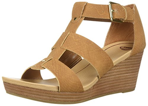 Dr. Scholl's Shoes Women's Barton Wedge Sandal, Saddle Snake Print, 7.5 M US