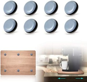 AIEVE Kitchen Appliance Sliders – Easy Moving & Saving Space – 8Pcs Adhesive Magic Telfon Self Stick Sliders Compatible with Most Coffee Makers, Air Fryers, Pressure Cooker, Blenders and More (DIY)