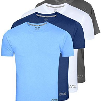 AWG - All Weather Gear Men's Polyester Dry Fit Round Neck T-Shirt - Pack of 4 19