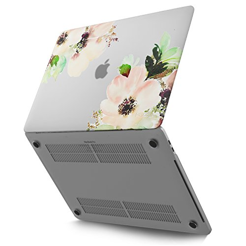 Kuzy - MacBook Pro 13 Case 2018 2017 2016 Release A1989 A1706 A1708, Plastic Hard Shell Cover for Newest MacBook Pro 13 inch case with/Without Touch Bar & Touch ID Soft Touchh - Flowers
