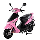 TAO SMART DEALSNOW Brings Brand New 50cc Gas Fully Automatic Street Legal Scooter TaoTao ATM50 with TRUNK Included - Pretty Pink