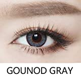 Cosplay Eyes Multi-Color Contact Lenses Cosplay Eyes Cute Colored Charm and Attractive Blends Cosmetic Makeup Eye Shadow (Gray)