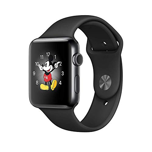 Refurbished Apple Watch Series 2, 42mm Space Black Stainless Steel Case with Black Sport Band