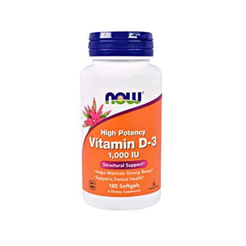 Now Supplements, Vitamin D-3 1000 IU, 180 Softgels