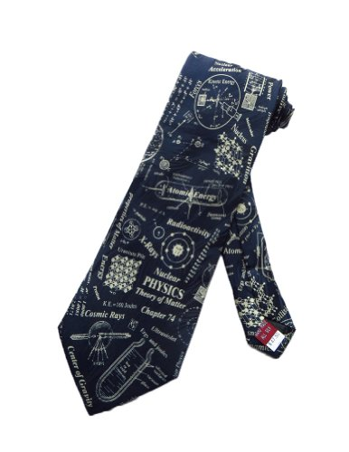Museum Artifacts Mens Nuclear Physics Science Necktie - Blue - One Size Neck Tie