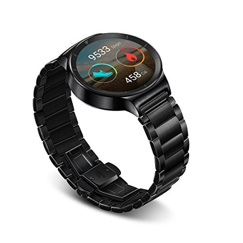 """416eNCipnnL 1.4"""" Full Circle AMOLED display with scratch resistant sapphire glass and stainless steel body Compatible with most devices with Android 4.3 or later operating system Get notifications and alerts for calls, texts, and apps with over 4000 Android Wear apps to choose from"""