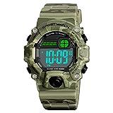 Venhoo Digital Kids Watches Outdoor Sport Waterproof Electronic EL-Light with Alarm Stopwatch Luminous Wrist Watch for Kids Boys Girls Age 5-12-Camouflage