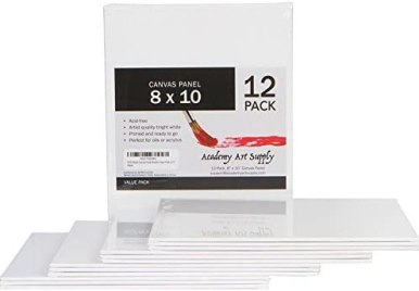 Academy Art Supply Value Pack Blank Canvas Panel Boards