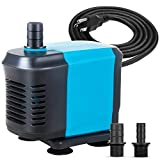 KEDSUM 550GPH Submersible Water Pump for Pond Aquarium, Fish Tank Powerhead for Water Fountain Hydroponic, 40W