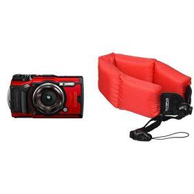 Olympus-Tough-TG-6-Waterproof-Camera-Red-Bundle-with-Olympus-Foam-Float-Strap-202212-Red