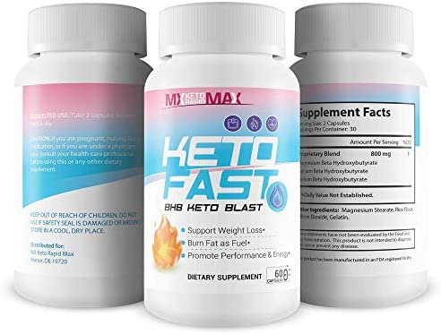 Keto Fast - BHB Keto Blast - Burn Fat Fast with Accelerated Ketosis Entry - by MX Keto Rapid Max - Feel The MX Keto Blast Effect of Calcium BHB Salts for max Rapid Keto Fat Burning and Weight Loss 4