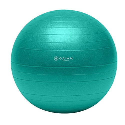 Gaiam Total Body Balance Ball Kit - Includes 65cm Anti-Burst Stability Exercise Yoga Ball, Air Pump, Workout Program