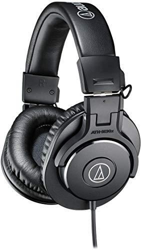 Audio-Technica ATH-M30X Audífonos Profesionales Monitorizado para Estudio, color Negro