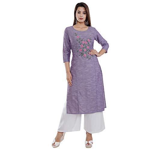 Kurti Junction Women's Cotton Straight Kurta