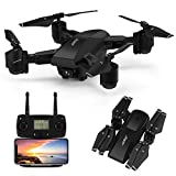 GPS Drone,JJRC H78G 5G WiFi FPV Foldable Drone with 1080P Camera Live Video,Follow me,Altitude Hold,Smart Return to Home Folding Drone for Adults (Black)
