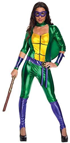 Secret Wishes Women's Teenage Mutant Ninja Turtles Donatello Costume Jumpsuit, Multi, Medium