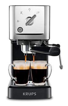 KRUPS-XP344C51-Professional-Coffee-Maker-Calvi-Steam-and-Pump-Compact-Espresso-Machine-1-Liter-Black