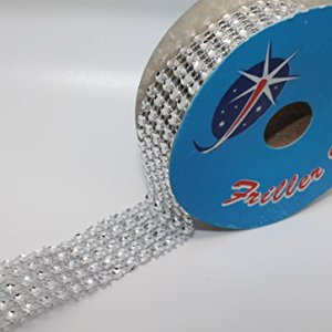 Diamante Effect Ribbon (5 rows) 2m x 25mm – Bridal Weddings Cake Occasions 416yozjb8ML