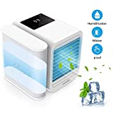 Trevoz Personal Air Cooler Portable Air Conditioner Fan, Evaporative Humidifier, Purifier, 3 in 1 USB Mini air Cooler Office Desktop Cooling Fan (White)