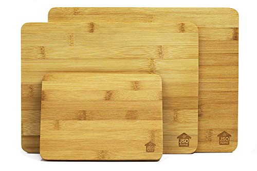 Bamboo Wooden Cutting Boards for Kitchen: Set of 3 Organic Bamboo Chopping Board