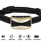Yao yeow Dog No Bark Collar with Smart Detection Vibration and Harmless Shock- Rechargeable Anti Barking Device for Small Medium and Large Dog (color)
