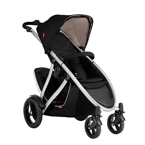 Phil and Teds Verve V3 Stroller With Doubles Kit (Black)