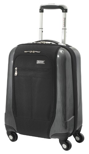 Ricardo Beverly Hills Luggage Crystal City 17 Inch Spinner Universal Carry-on Bag, Black, Small