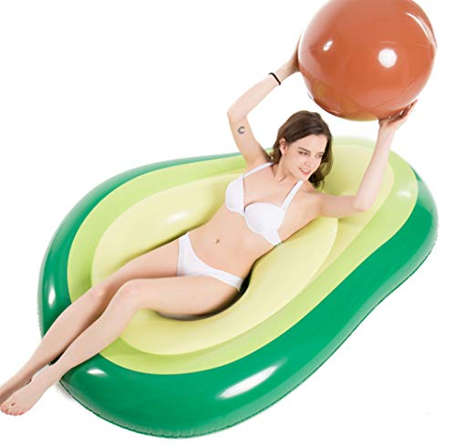 Jasonwell Inflatable Avocado Pool Float