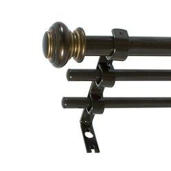 Bronze Triple Curtain Rod Set