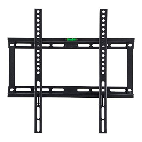 Low Profile Fixed TV Wall Mount Bracket for 23-55' Samsung Sony Vizio LG Sharp LED LCD OLED Plasma Flat Screen TVs with VESA 400x400mm, 132lbs Capacity, Fits 16' Wall Studs Includes Bubble Level