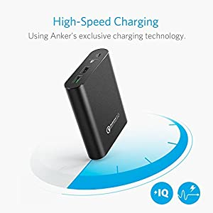 Anker PowerCore+ 13400 with Quick Charge 3.0 (Output Only), Premium Aluminum 13, 400mAh External Battery Charger with Qualcomm Quick Charge Output for iPhone, iPad, Samsung and More