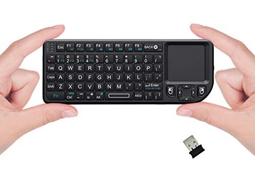 FAVI FE01 2.4GHz Wireless USB Mini Keyboard with Mouse Touchpad, Laser Pointer - USA Version (Warranty) - Black (FE01-BL)
