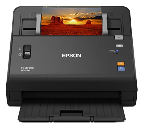 Epson FastFoto FF-640 High-Speed Photo Scanning System with Auto Photo Feeder (Renewed)